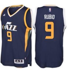 Utah Jazz #9 Ricky Rubio Road Navy New Swingman Stitched NBA Jersey