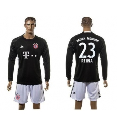 Bayern Munchen #23 Reina Black Goalkeeper Long Sleeves Soccer Club Jersey