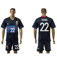 Japan #22 Yoshida Home Soccer Country Jersey