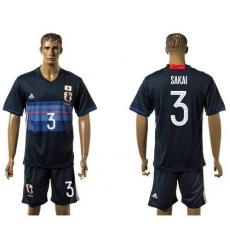 Japan #3 Sakai Home Soccer Country Jersey
