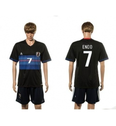 Japan #7 Endo Home Soccer Country Jersey