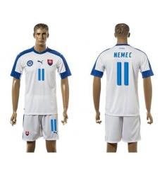 Slovakia #11 Nemec Home Soccer Country Jersey