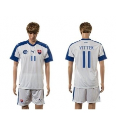 Slovakia #11 Vittek Home Soccer Country Jersey