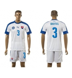 Slovakia #3 Skrtel Home Soccer Country Jersey