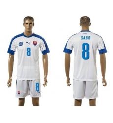 Slovakia #8 Sabo Home Soccer Country Jersey