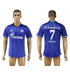 Schalke 04 #7 Meyer Blue Home Soccer Club Jersey