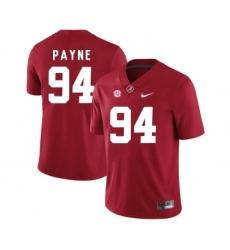 Alabama Crimson Tide 94 Da'Ron Payne Red College Football Jersey