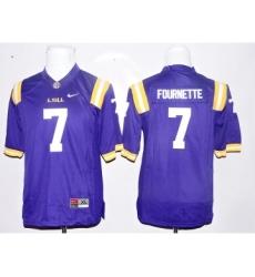 LSU Tigers 7 Leonard Fournette Purple Youth College Jersey