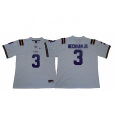 LSU Tigers 3 Odell Beckham Jr. White Nike College Football Jersey