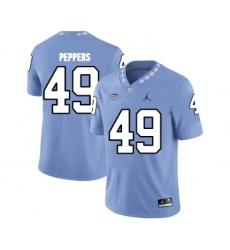 North Carolina Tar Heels 49 Julius Peppers Blue College Football Jersey