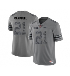 Ohio State Buckeyes 21 Parris Campbell Gray Shadow College Football Jersey