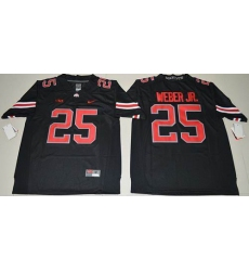 Ohio State Buckeyes #25 Mike Weber Jr. Black(Red No.) Limited Stitched NCAA Jersey