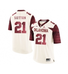 Oklahoma Sooners 21 Marcelias Sutton White 47 Game Winning Streak College Football Jersey