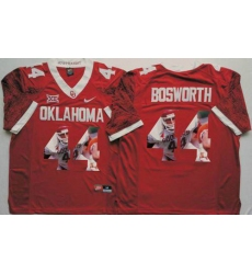 Oklahoma Sooners #44 Brian Bosworth Red Player Fashion Stitched NCAA Jersey