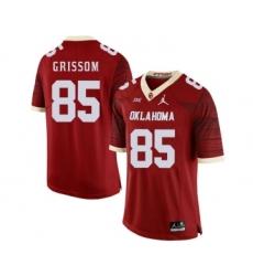 Oklahoma Sooners 85 Geneo Grissom Red 47 Game Winning Streak College Football Jersey