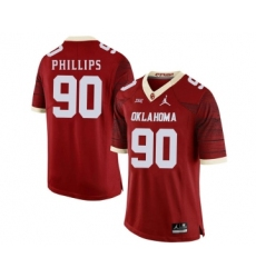 Oklahoma Sooners 90 Jordan Phillips Red 47 Game Winning Streak College Football Jersey