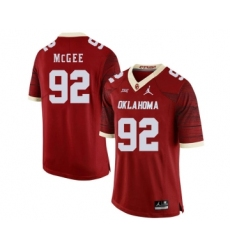 Oklahoma Sooners 92 Stacy McGee Red 47 Game Winning Streak College Football Jersey