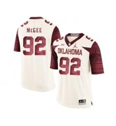 Oklahoma Sooners 92 Stacy McGee White 47 Game Winning Streak College Football Jersey
