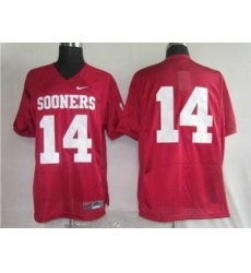 Sooners #14 Sam Bradford Red Embroidered NCAA Jersey