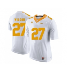 Tennessee Volunteers 27 Al Wilson White College Football Jersey