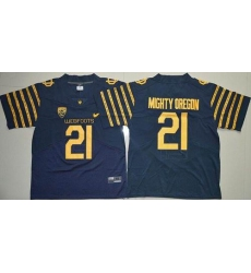 Oregon Ducks #21 Mighty Oregon Navy Blue Webfoots 100th Rose Bowl Game Elite Stitched NCAA Jersey