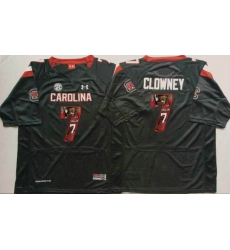 South Carolina Fighting Gamecocks #7 Jadeveon Clowney Black Player Fashion Stitched NCAA Jersey