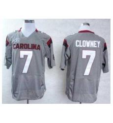 South Carolina Gamecocks 7 Jadeveon Clowney Grey College Football NCAA Jerseys