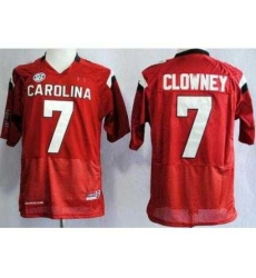 South Carolina Gamecocks 7 Jadeveon Clowney Red College Football NCAA Jerseys