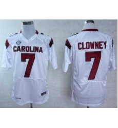 South Carolina Gamecocks 7 Jadeveon Clowney White College Football NCAA Jerseys
