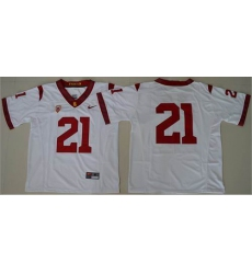 USC Trojans #21 Adoree' Jackson White PAC-12 C Patch Stitched NCAA Jersey