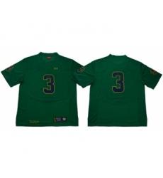 Fighting Irish #3 Joe Montana Green Limited Stitched NCAA Jersey