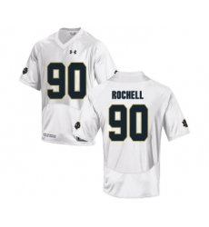 Notre Dame Fighting Irish 90 Isaac Rochell White College Football Jersey