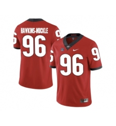 Georgia Bulldogs 96 DaQuan Hawkins-Muckle Red College Football Jersey