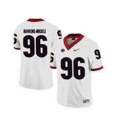 Georgia Bulldogs 96 DaQuan Hawkins-Muckle White College Football Jersey