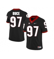 Georgia Bulldogs 97 Brooks Buce Black College Football Jersey