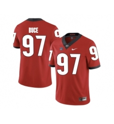 Georgia Bulldogs 97 Brooks Buce Red College Football Jersey