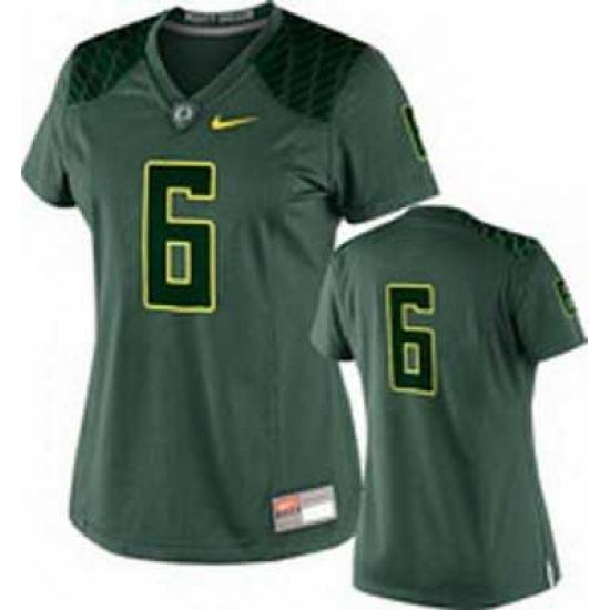 NEW Women Oregon Ducks Green #6 NCAA Jerseys