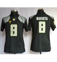 Oregon Duck 8 Mariota Black Limited Women Jerseys