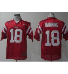 NEW Ole Miss Rebels Achie Manning 18 Red College Football Jerseys