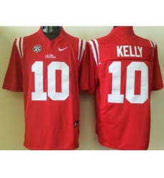 Ole Miss Rebels 10 Chad Kelly Red College Football Jersey