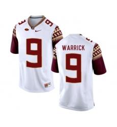 Florida State Seminoles 9 Peter Warrick White College Football Jersey