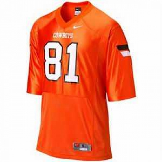 NCAA Oklahoma State Cowboys 81 blackmon orange jerseys