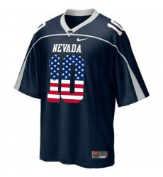 Nevada Wolf Pack #10 Colin Kaepernick Blue USA Flag With WAC Patch College Football Jersey