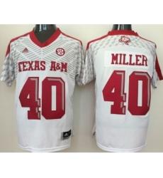 Texas A&M Aggies 40 Von Miller White College Jersey