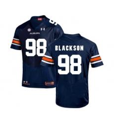 Auburn Tigers 98 Angelo Blackson Navy College Football Jersey