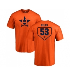 MLB Nike Houston Astros #53 Ken Giles Orange RBI T-Shirt