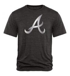 MLB Atlanta Braves Fanatics Apparel Platinum Collection Tri-Blend T-Shirt - Grey