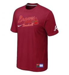 MLB Men's Atlanta Braves Nike Practice T-Shirt - Red