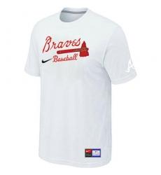 MLB Men's Atlanta Braves Nike Practice T-Shirt - White