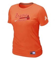 MLB Women's Atlanta Braves Nike Practice T-Shirt - Orange